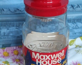 1976 Maxwell House Collectable Coffee 1776 Storage Jar