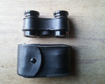 Free Shipping 1950s-60s Vintage Portable Binoculars & Case Opera Glasses Field Fall Out Cosplay Goth Curio Witchy Decor