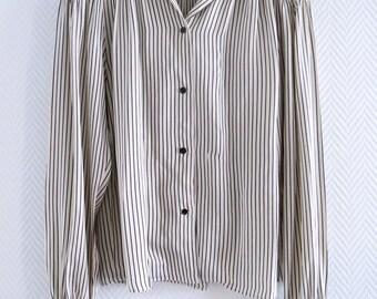 Lanvin silk striped blouse