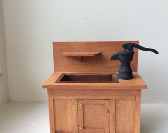 Dollhouse Miniature Dry Sink by Paul Rouleau