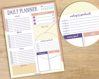 Daily Planner || Printable Planner || Life Planner || Student Planner || Academic Planner || Instant Download PDF