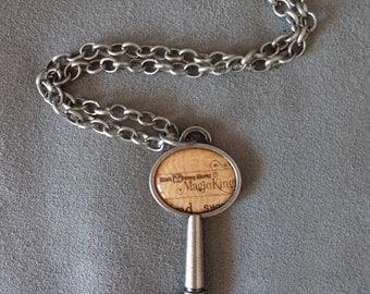 "Vintage Walt Disney World Magic Kingdom Key to the Kingdom ""B Ticket"" Pendant with Chain"
