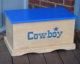 Cowboy Toy Box - Kids Toy Chest - Keepsake Box - Memory Box - Memory Chest & Wooden toy box | Etsy Aboutintivar.Com