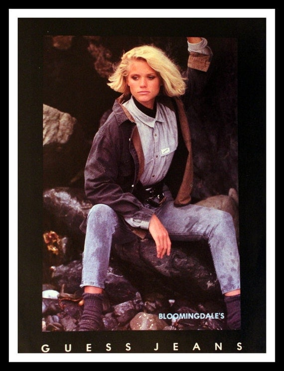 Items similar to 1983 Guess Jeans Clothing Ad - Guess Girl ... Guess Jeans Ad