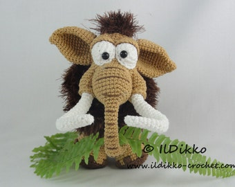 Amigurumi Crochet Pattern - Maurice the Mammoth