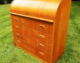 Vintage Danish Roll Top Desk