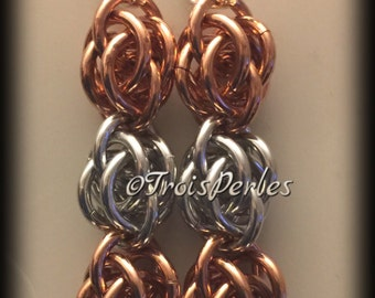 09 Chain Maille earrings - Chainmaille earrings