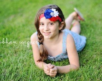 Independence Day Headband - 4th of July Headband - Red White and Blue Headband - Baby Headband - Adult Headband - Fourth of July - America