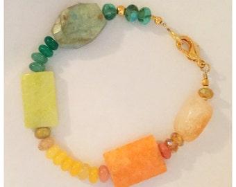 Natural Stone Sunset Bracelet