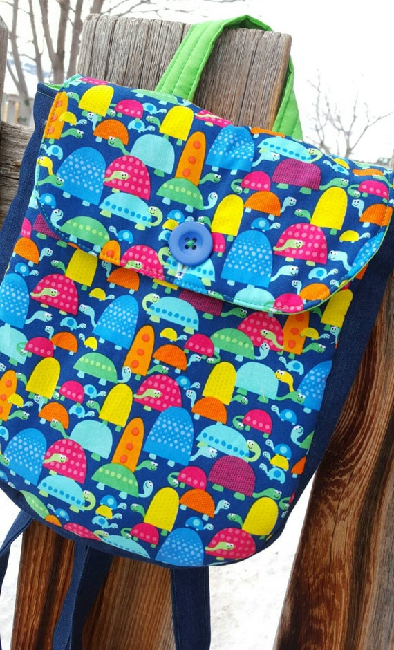 Colorful Turtle  Toddler Backpack