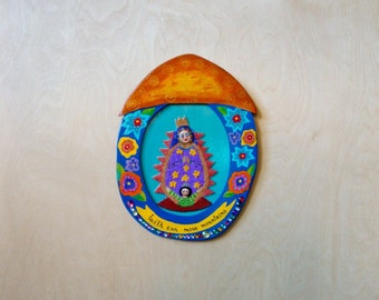 Beaded Guadalupe Nicho Wall Hanging