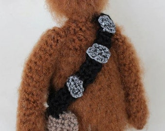 Chewbacca Crochet Doll.  Star Wars Plush.  Chewy Doll.  Wookie.