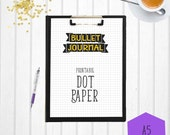 Bullet Journal Dot Paper | A5 | Printable Bullet Journal | A5 Dot Paper | Bullet Journal
