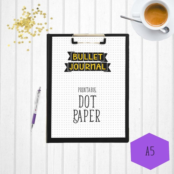 Dot Calendar Bullet Journal : Bullet journal dot paper a printable