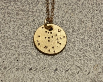 SAGGITARIUS Necklace, Constellation Necklace, Zodiac  Necklace, hand stamped jewelry, astrology jewelry, gift jewelry.