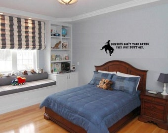 Horse Quote, Horse Decal, Rodeo Wall Decal, Rodeo Quote, Cowboy Quote Decal, Cowboy Wall Decal, Western Quote wall decal,Western Wall Decal