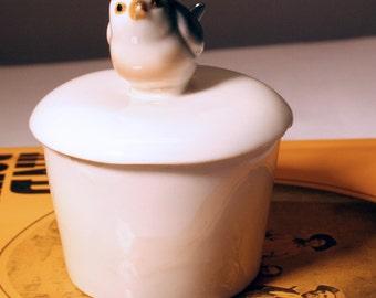 Little Porcelain Trinket Box - Bluebird/ Valentine Sale was 12.00