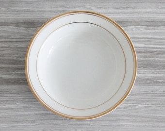 Set of 3 White Vintage Fine China Crown Empire Regent Fruit Bowls/Dessert Bowls with Gold Trim - Made in Japan
