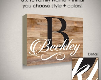 Personalized Name, farmhouse decor, 8x10, wooden sign, rustic decor, custom name sign, monogram gift, personalized sign, digital design