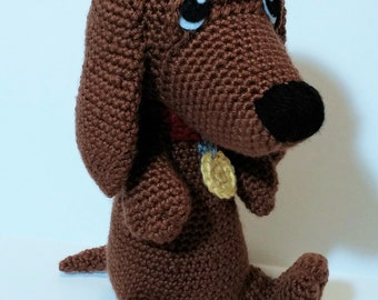 Snoopy The Little Dachshund Amigurumi Pattern. PDF file only, doll not included.