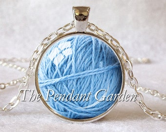 KNITTER'S PENDANT Knitter's Necklace Ball of Yarn Necklace Knitter's Gift for Knitter Knitting Jewelry Knitting Gift Choice of Colors