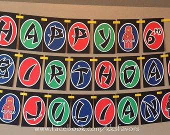 Ninja Banner / Ninjago Banner / Boys Birthday Banner / Ninjago Party / Ninjago Birthday