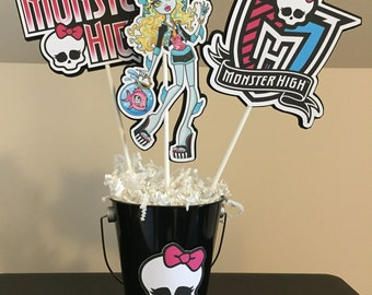Monster / High / Draculaura / Clawdeen Centerpieces - Set of 3 PLUS pail