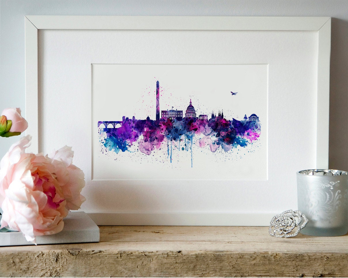 Watercolor Wall Art watercolor artartsyndrome on etsy