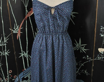 1970s Floral Sun Dress - Small