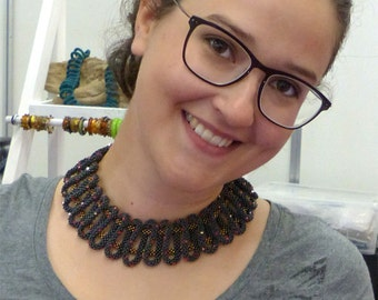 """English-Tutorial Necklace """"Loopy"""" (PDF)"""