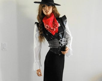 Beautiful and Wild Wild West Lady Dress Costume Set /Wild Wild West/ Cowgirl/Country Western/ Wild West Steampunk/Steampunk Outfit/ Size S-M