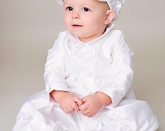 Anthony Boy Baptism Outfit, Boy Christening Outfit, Boy Blessing Outfit, Baby Silk Outfit for Baby Boy's