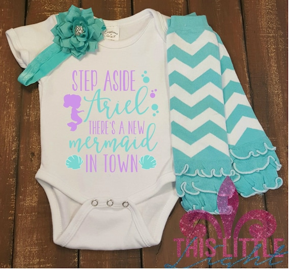 newborn girl outfit baby shower gift the little mermaid inspired