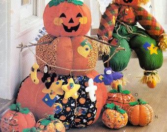 36 Inch Scarecrow Greeter, Pumpkin Greeters, Porch Sitters, Halloween Decoration pattern, Bats, Ghosts, Black Cats, Stars, McCalls 853
