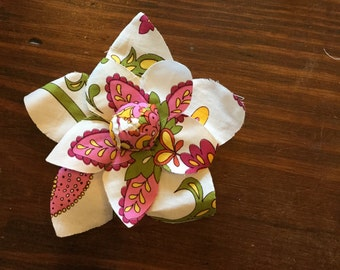 """5"""" Floral Print Cotton Pins for Hats, Purses, Coats or Hair! To be sold in 1 Lot of 45 pieces for 22.50."""