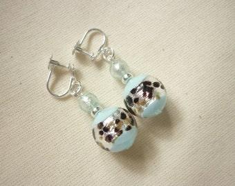 Murano Bead Earrings - for non pierced ears