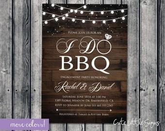 I Do BBQ Wood Invitation Digital Download