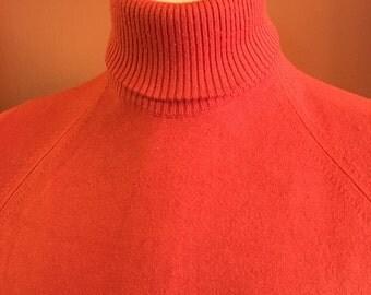 Rust Colored Orlon Men's Lightweight Turtleneck by Puritan c1960s - SIZE L