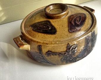 Vintage Ceramic Steamer, ceramic cooker, vintage steamer, vegetable steamer, kitchenalia, antique steamer, clam steamer