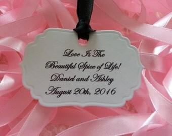 100 LOVE TAGS  Bride And Groom Custom Tags