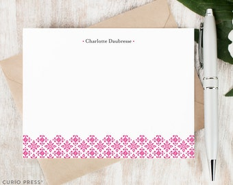 Personalized Stationery / Personalized Stationary Set / Flat Note Card Set / Stationery Gift Set / Women's Stationery // ORNAMENT
