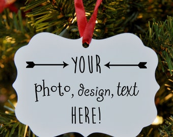 Custom Design Christmas Ornament, Personalize, customize, Gift, Holiday