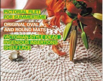 Vintage Decorative Crochet Magazine Back Issue July 1988 Number 4 Crochet Doily Patterns