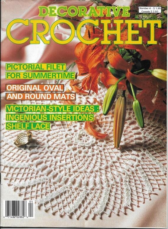 Vintage Decorative Crochet Magazine Back Issue July 1988