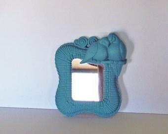Small Blue Accent Mirror