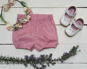 Girls Blush Bloomers (0-6 month to 3 years) - Made to order - Handmade