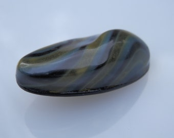 Striped Celluloid Bubble Button