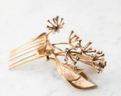 Seeded Eucalyptus Hair Comb- Botanical Headpiece with Swarovski crystals in Brass, Bronze or Silver