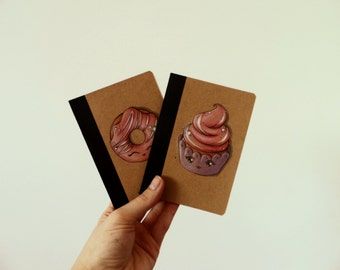 Cupcake Notebook, Cupcake recipe book, Blank Journal, Food Diary, Write your thoughts daily life.