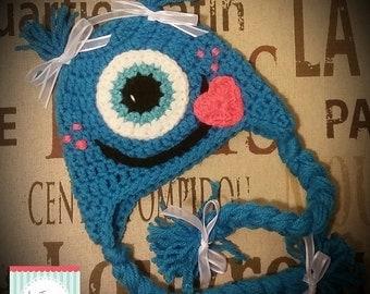 Crochet Love Monster Hat